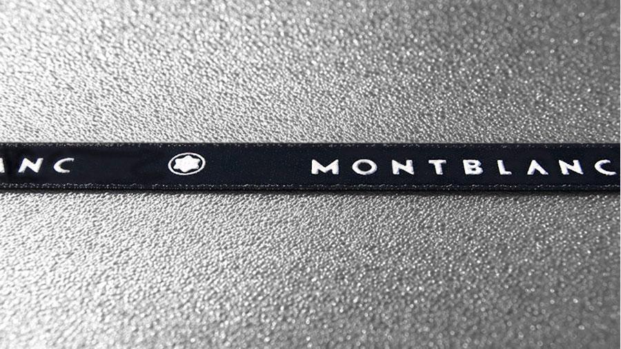 Texgraf cintas personalizadas serigrafia Montblanc
